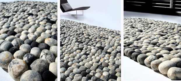 tapis de galets pebble par ksenia movafagh. Black Bedroom Furniture Sets. Home Design Ideas